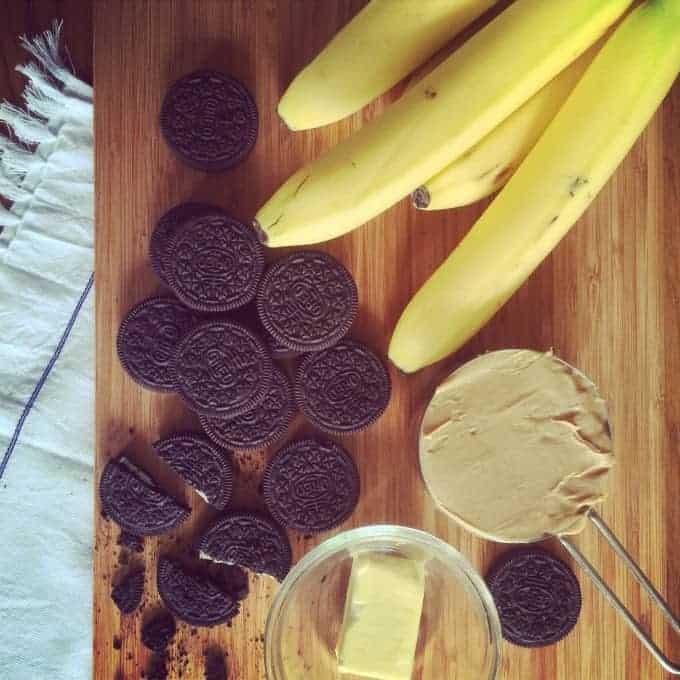 Frozen peanut butter banana mash-up