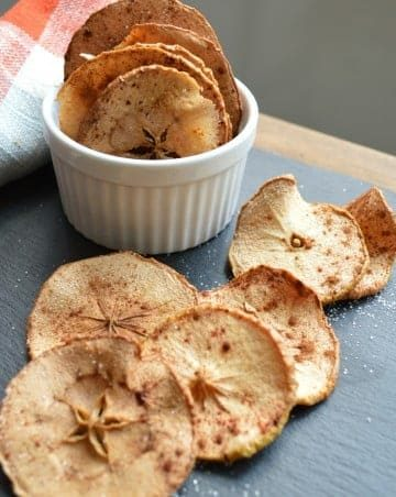 cinnamon sweet apple crisps