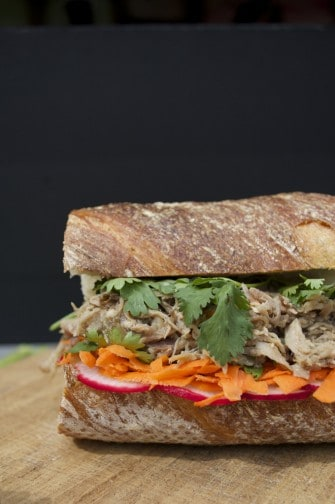 siu pulled pork banh mi sticky banh mi caramelized pork bánh mì pork ...
