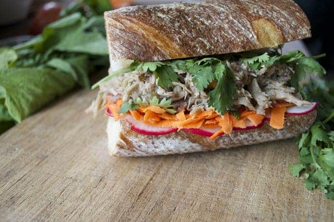 sweet potato and avocado vegan banh mi caramelized pork bánh mì pork ...