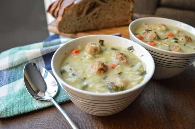 comforting italian wedding soup satisfying soup made with turkey ...