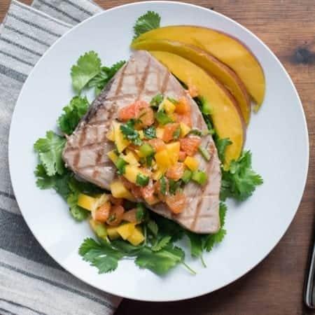 tuna steak with mango citrus salsa