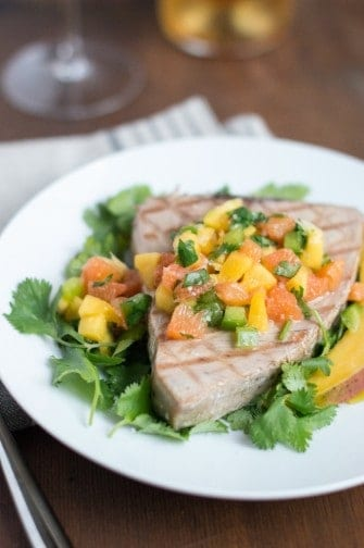 tuna steak with mango citrus salsa