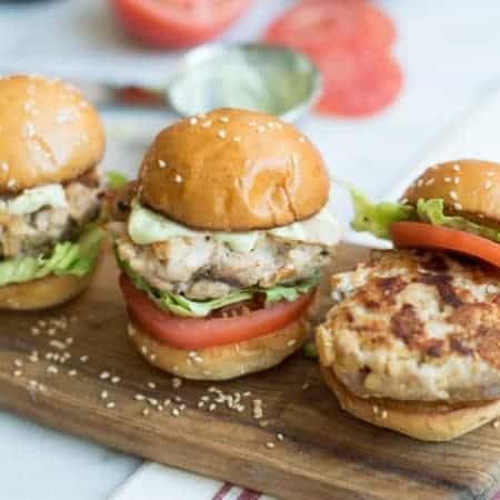 tuna burger sliders