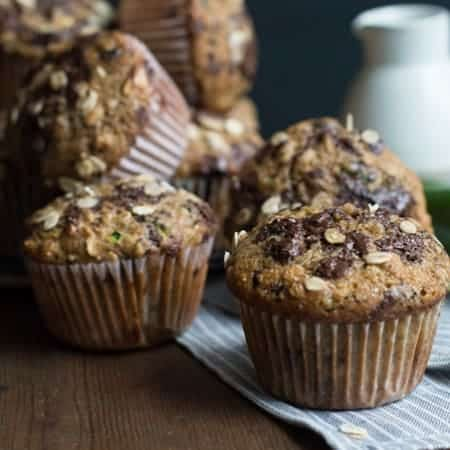 zucchini & chocolate muffin