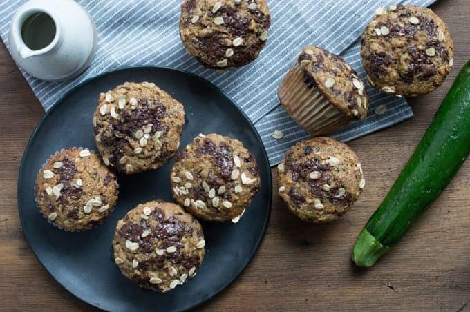 zucchini & chocolate muffin