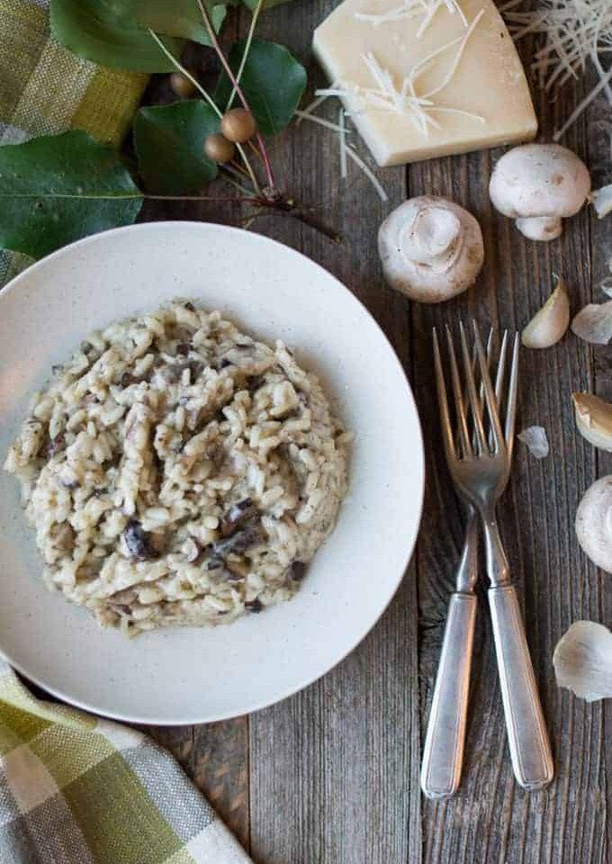 tre funghi (three mushroom) risotto