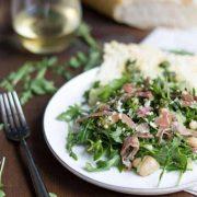 Arugula, White Bean & Prosciutto Salad   superman cooks