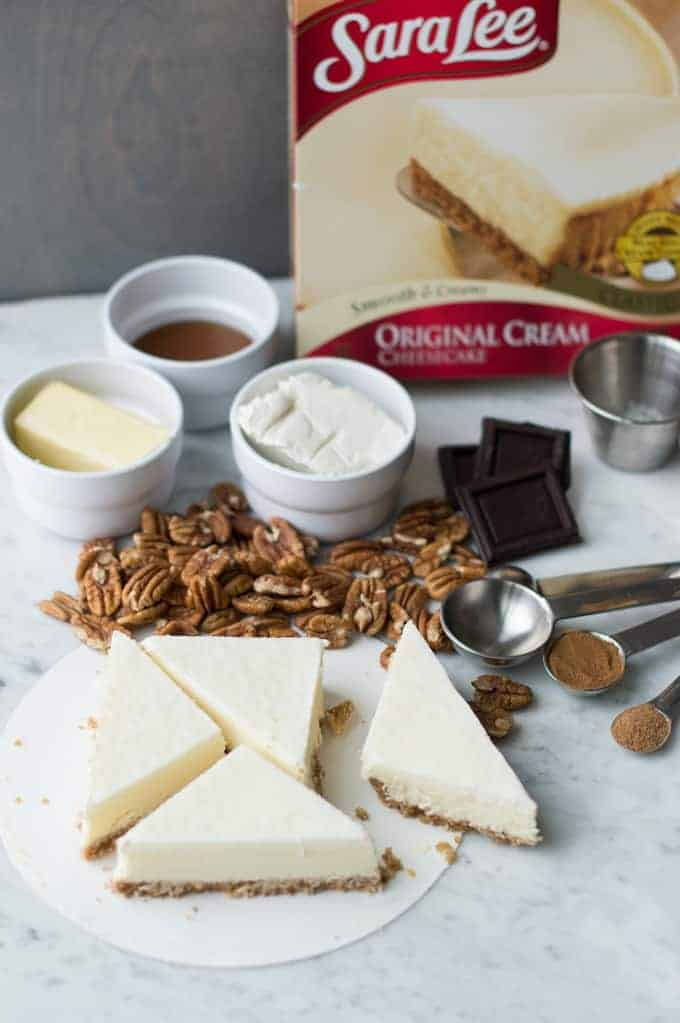 butter pecan cheesecake triangles | superman cooks