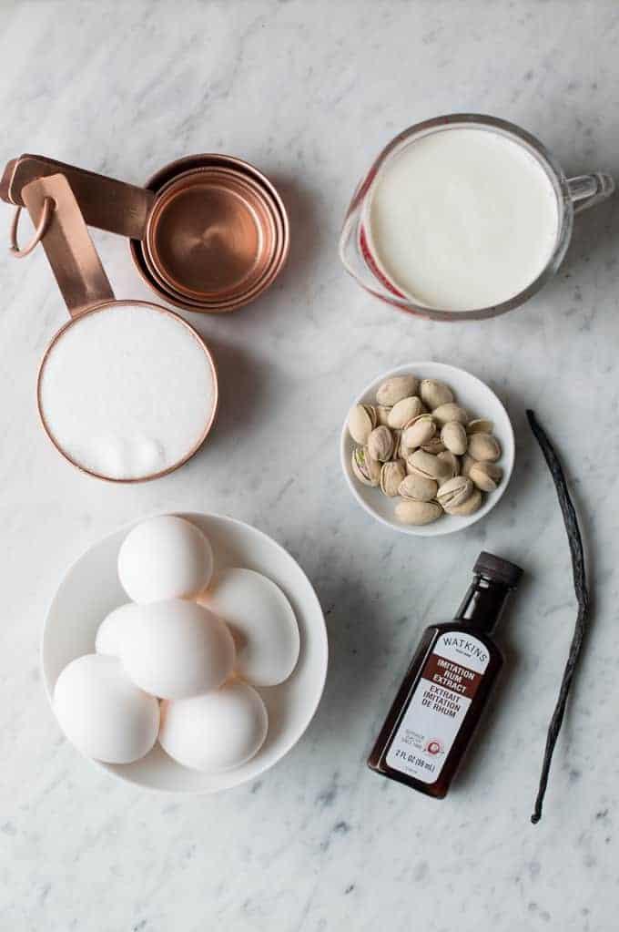 pistachio rum crème brulée | superman cooks