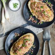 homestyle stuffed potatoes with sausage & bacon | superman cooks