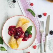french crêpes with lemon curd & fresh berries | superman cooks