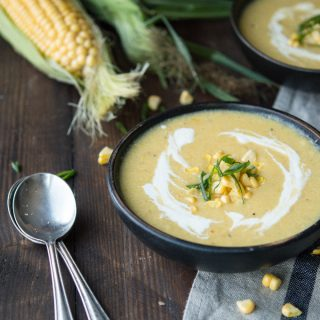 roasted sweet corn & apple bisque | superman cooks