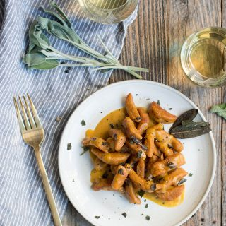 sweet potato gnocchi with pumpkin brown butter | superman cooks