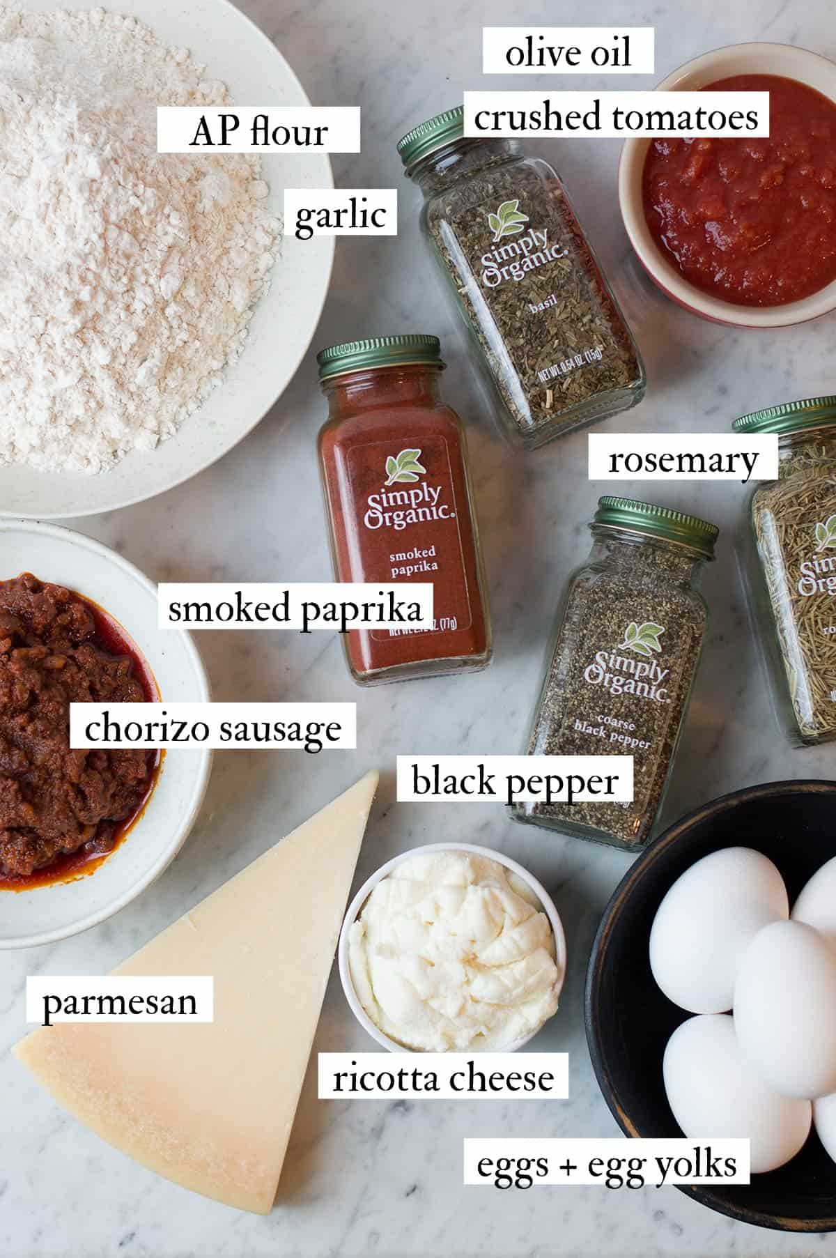 smoked chorizo & cheese ravioli ingredients