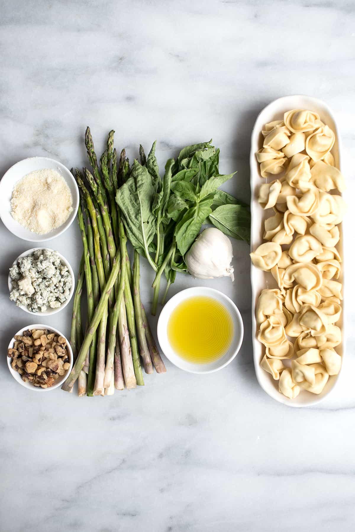 Asparagus Tortellini ingredients