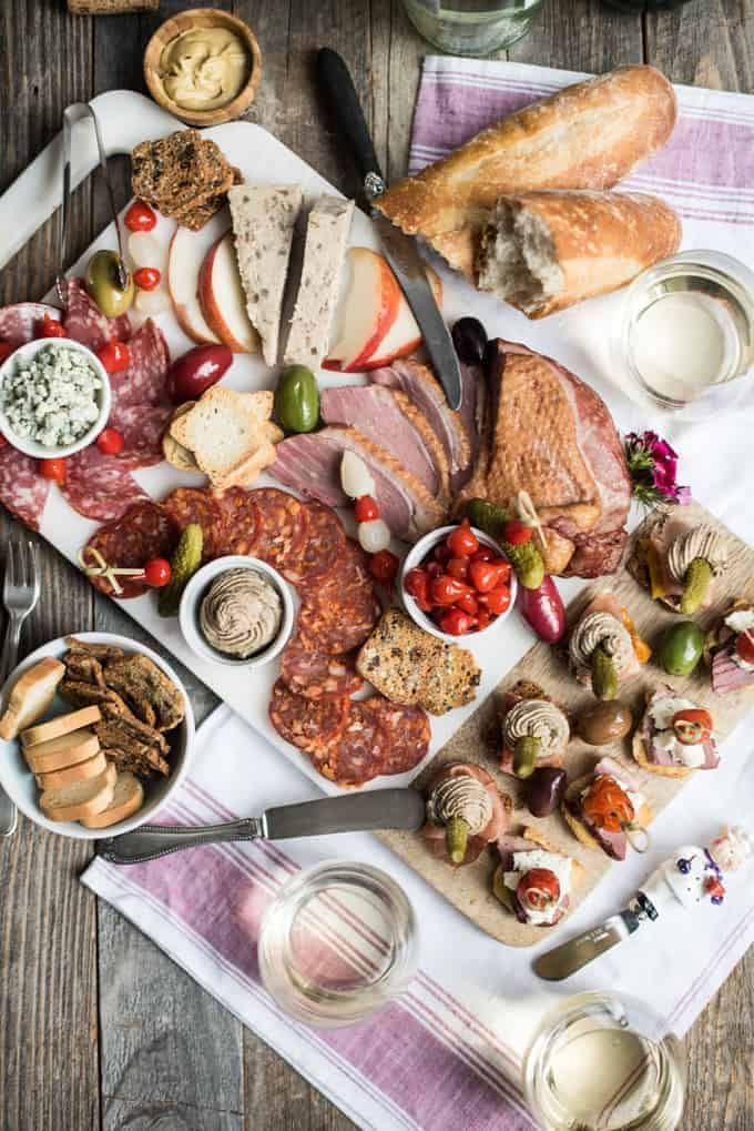 Two summer canap s a charcuterie board superman cooks for Summer canape ideas