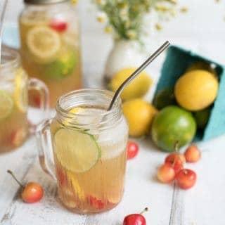all-natural sparkling cherry lemon-limeade   superman cooks