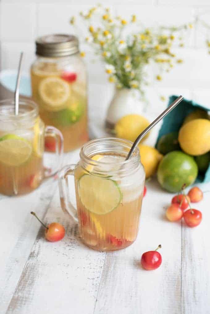 all-natural sparkling cherry lemon-limeade | superman cooks
