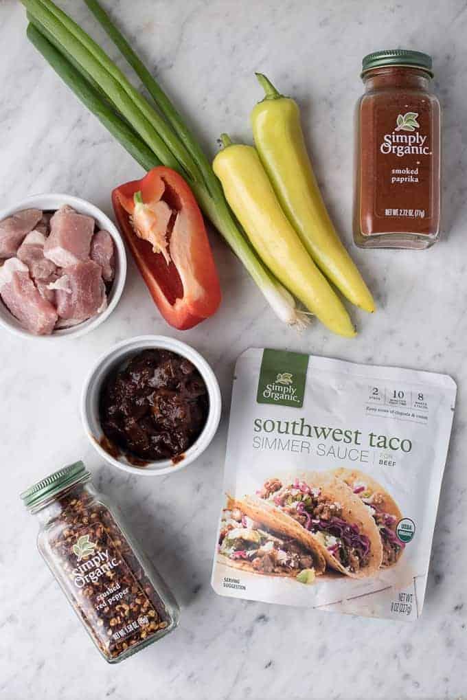spicy southwestern pork tostadas | superman cooks