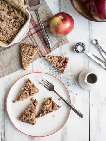 apple cranberry crumble bars | superman cooks