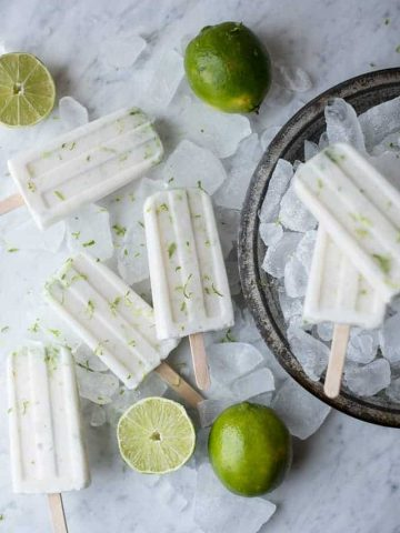 coconut lime popsicles | superman cooks
