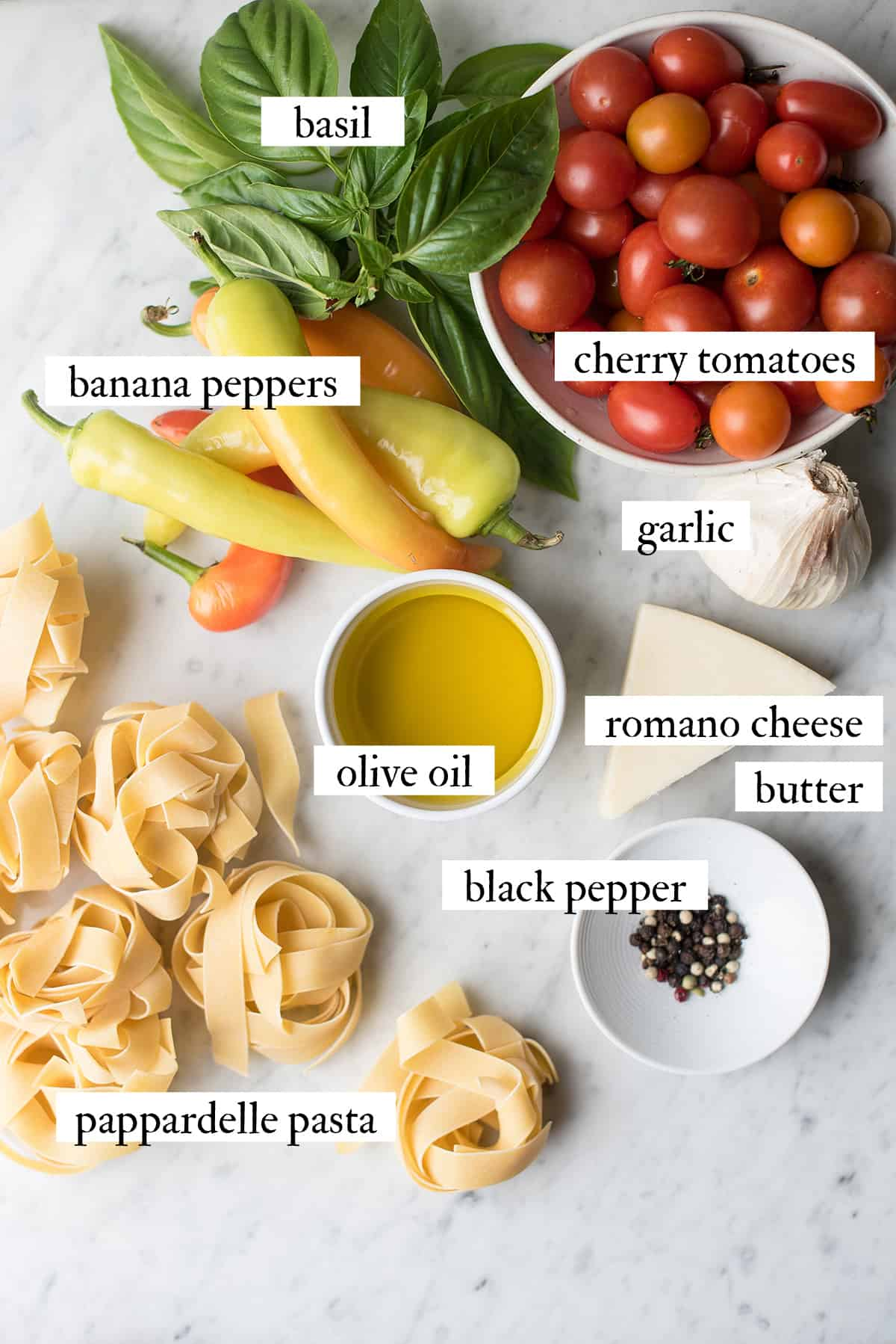 ingredients for pappardelle recipe