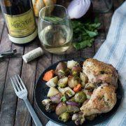 lemony garlic roasted chicken | superman cooks