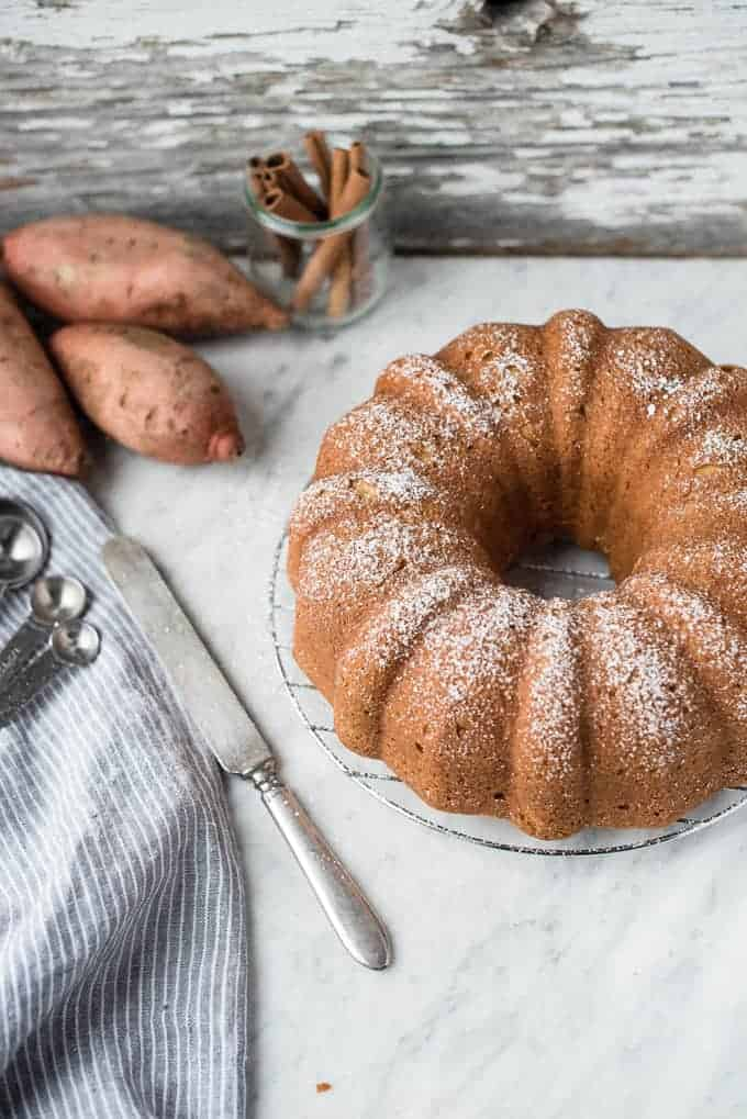 sweet potato pound cake | superman cooks