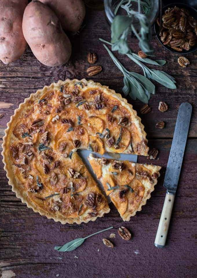 sweet potato tart | superman cooks