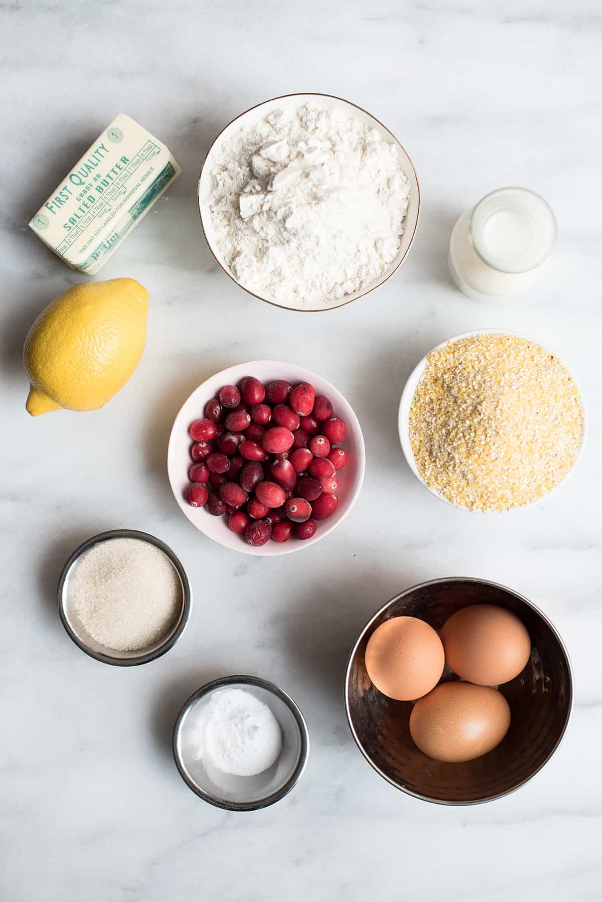 cornmeal griddle cakes with cranberry compote ingredients