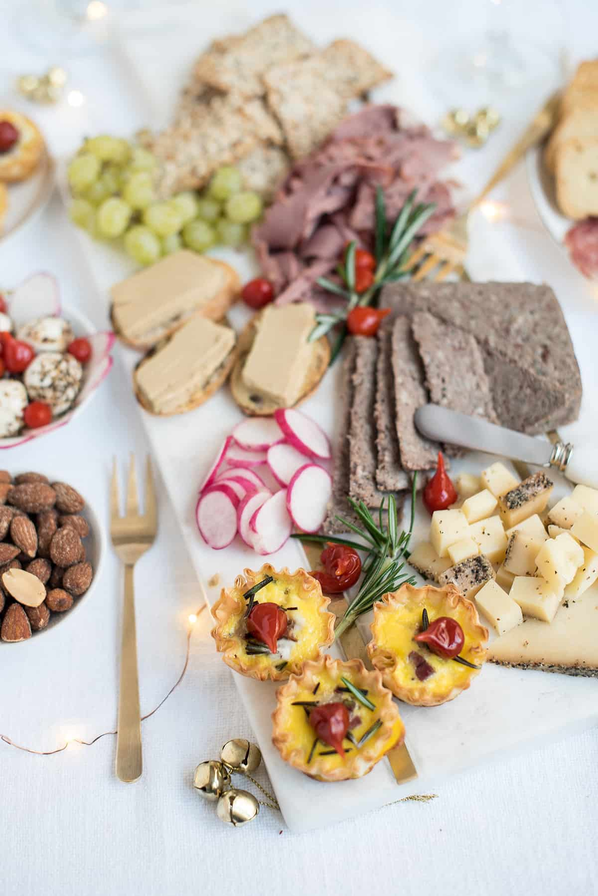 holiday champagne brunch charcuterie board