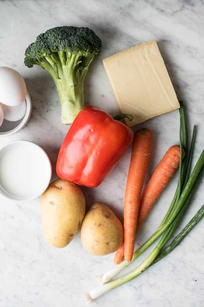 hearty vegetable frittata | superman cooks