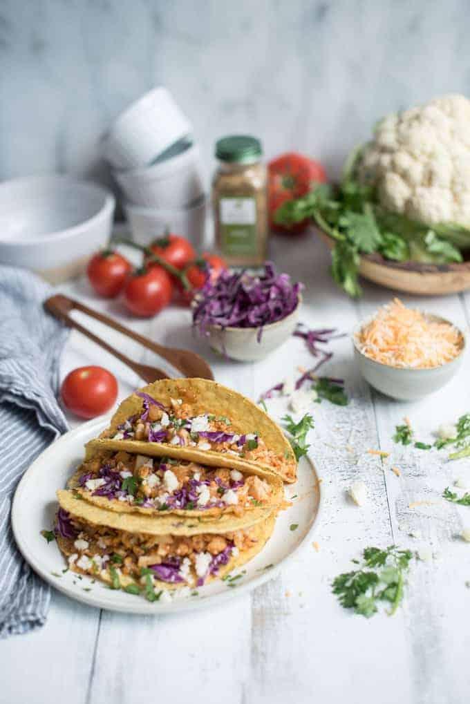 sautéed cauliflower tacos | superman cooks