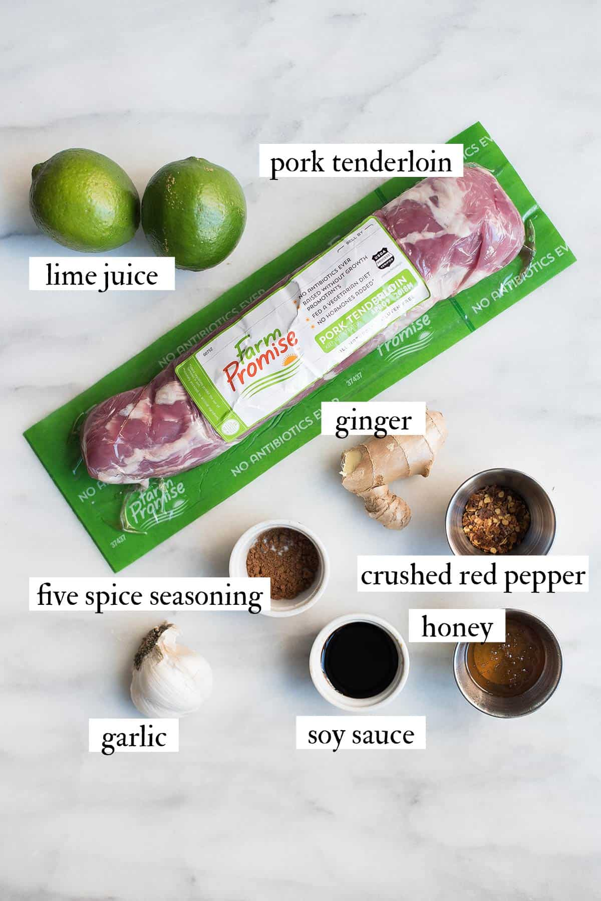 five spice sticky pork tenderloin ingredients