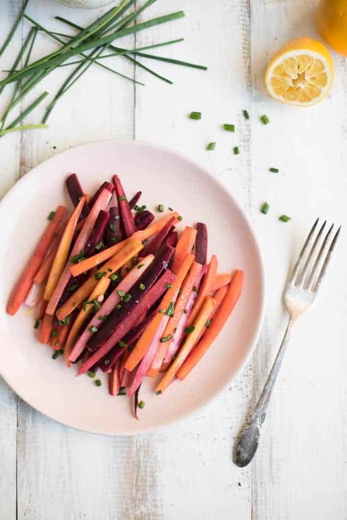tricolor balsamic carrots | superman cooks