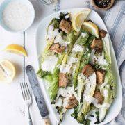 grilled romaine caesar salad | superman cooks