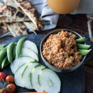 roasted carrot & radish hummus | superman cooks