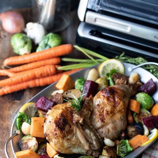 rosemary chicken with roasted vegetables   superman cooks