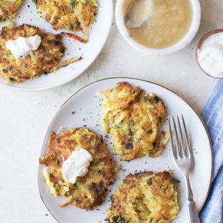 potato latkes with a kick | superman cooks