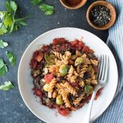 Earthy Gluten-Free Pasta with Lentils & Fresh Veggies | superman cooks