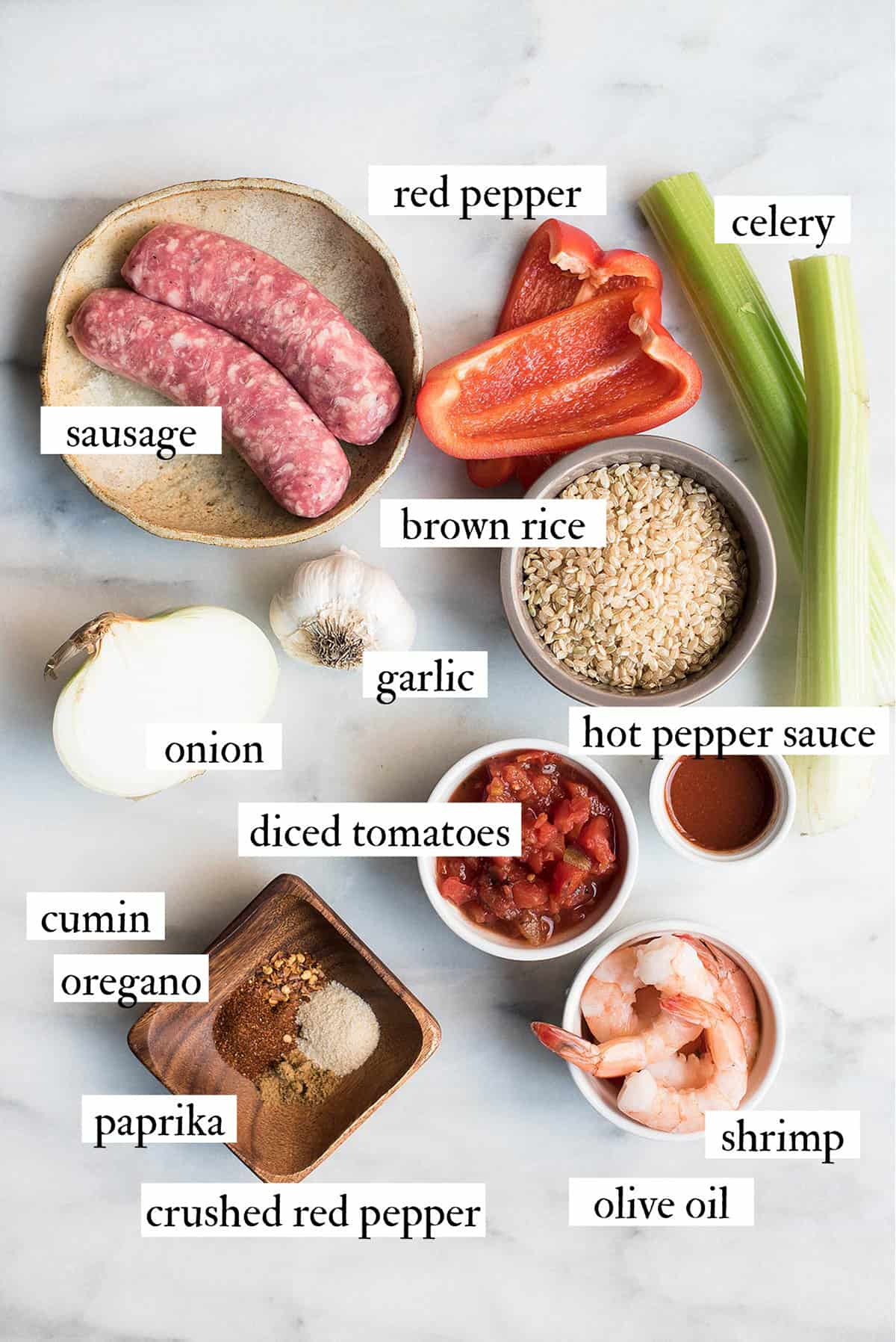 creole style shrimp jambalaya ingredients