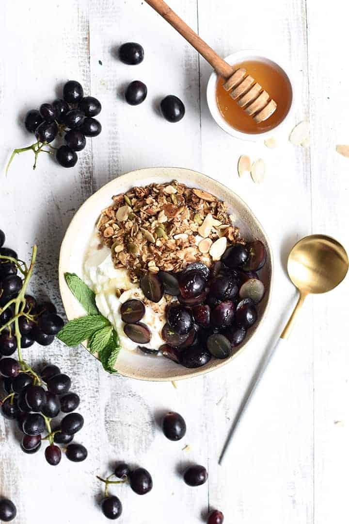 grape granola bowl | superman cooks