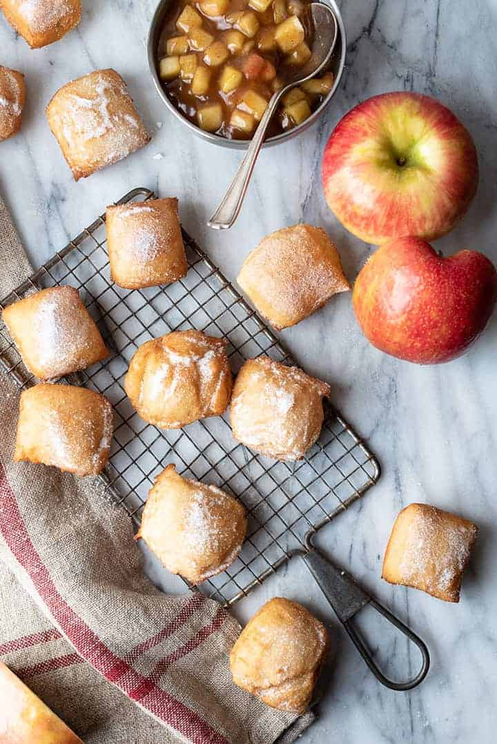 boozy apple beignets | superman cooks