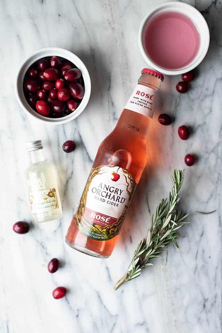 sparkling cranberry cider cocktail | superman cooks