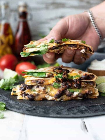 black bean quesadillas | superman cooks