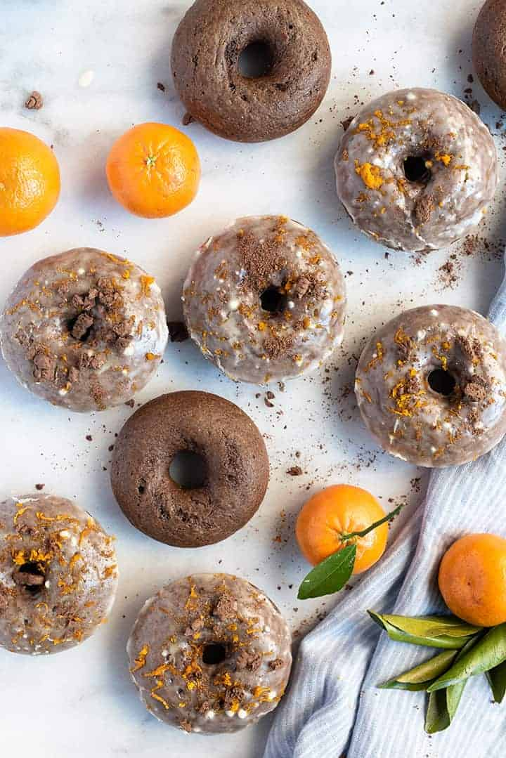 chocolate donuts with citrus glaze | superman cooks