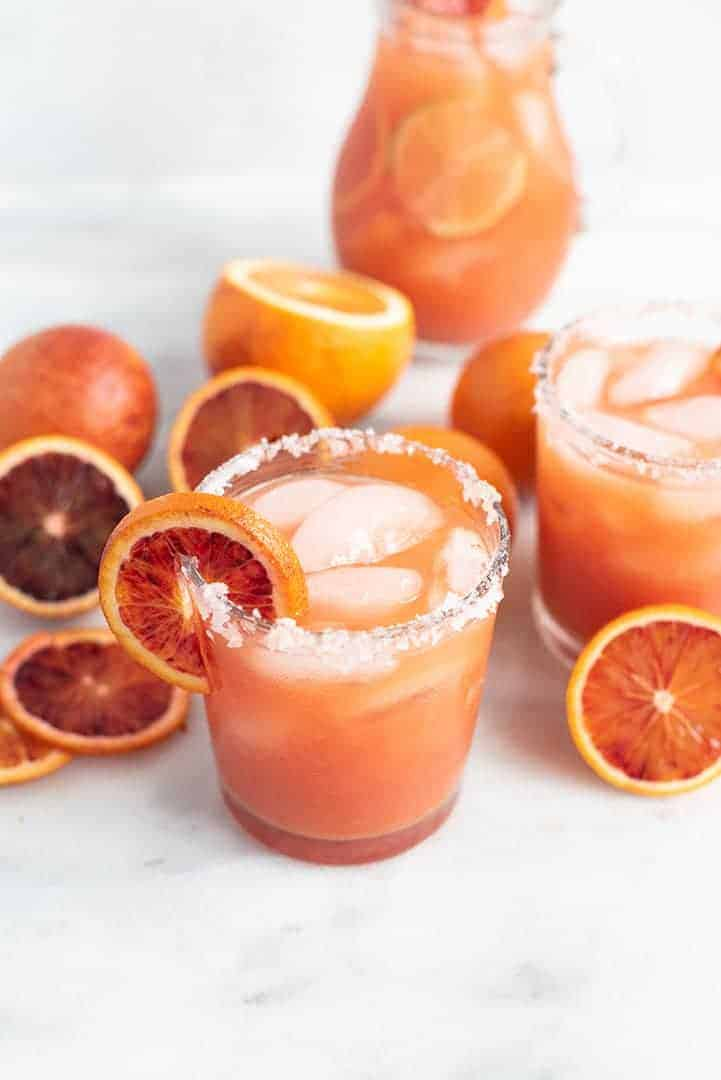 tangy blood orange margarita | superman cooks