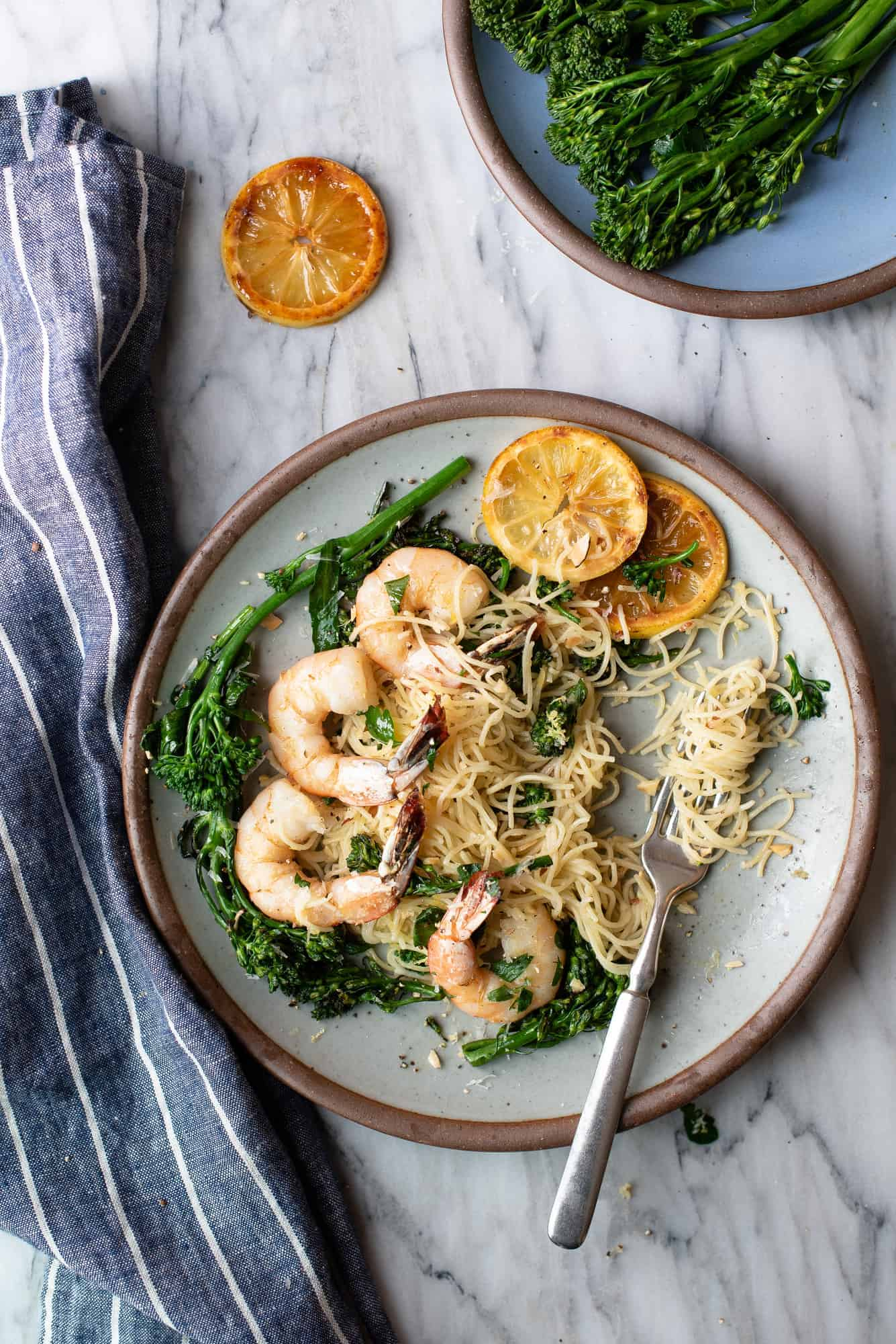 lemony shrimp pasta | superman cooks