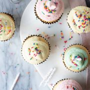 vanilla cupcakes with buttercream frosting | superman cooks